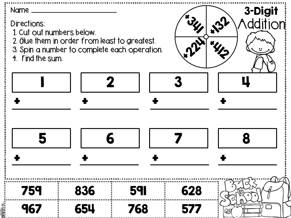 Mo Maths Worksheets : More than math by mo worksheet wednesday digit addition