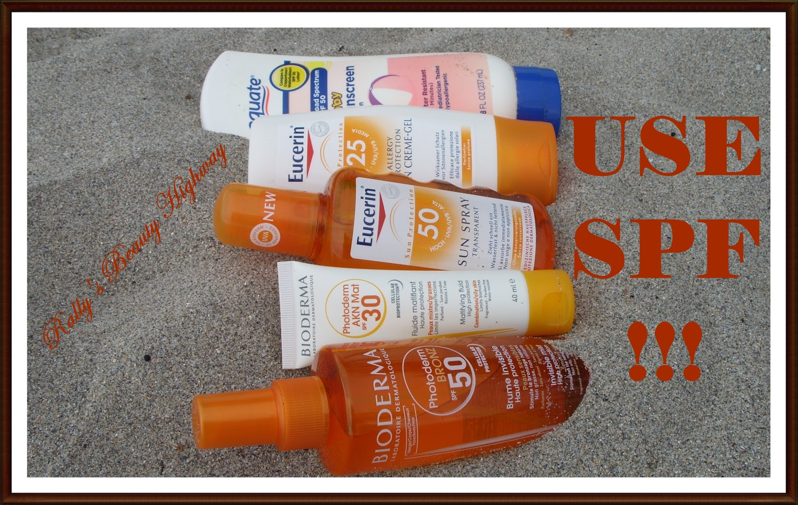 SPF, face and body care