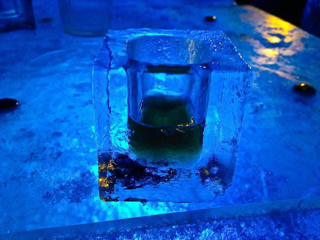 Liverpool ice bar glass