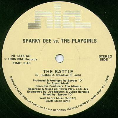 Sparky Dee vs. The Playgirls ‎– The Battle (VLS) (1985) (256 kbps)