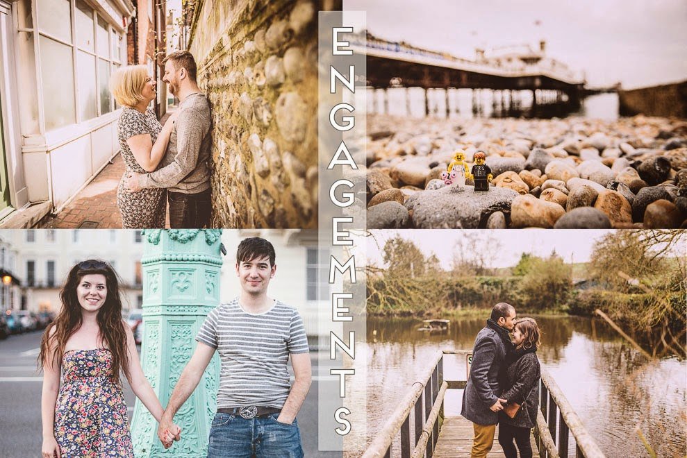 Brighton wedding and engagement shoots ››