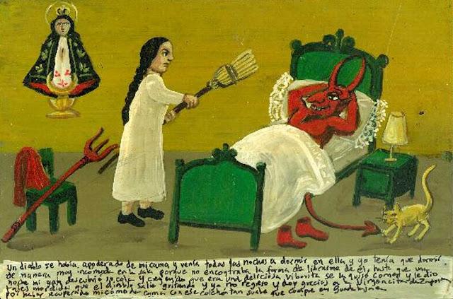 el diablo en mi cama, exvoto mexicano