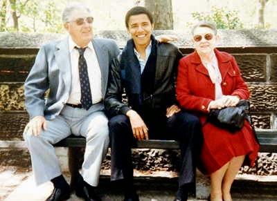 Obama y sus abuelos maternos