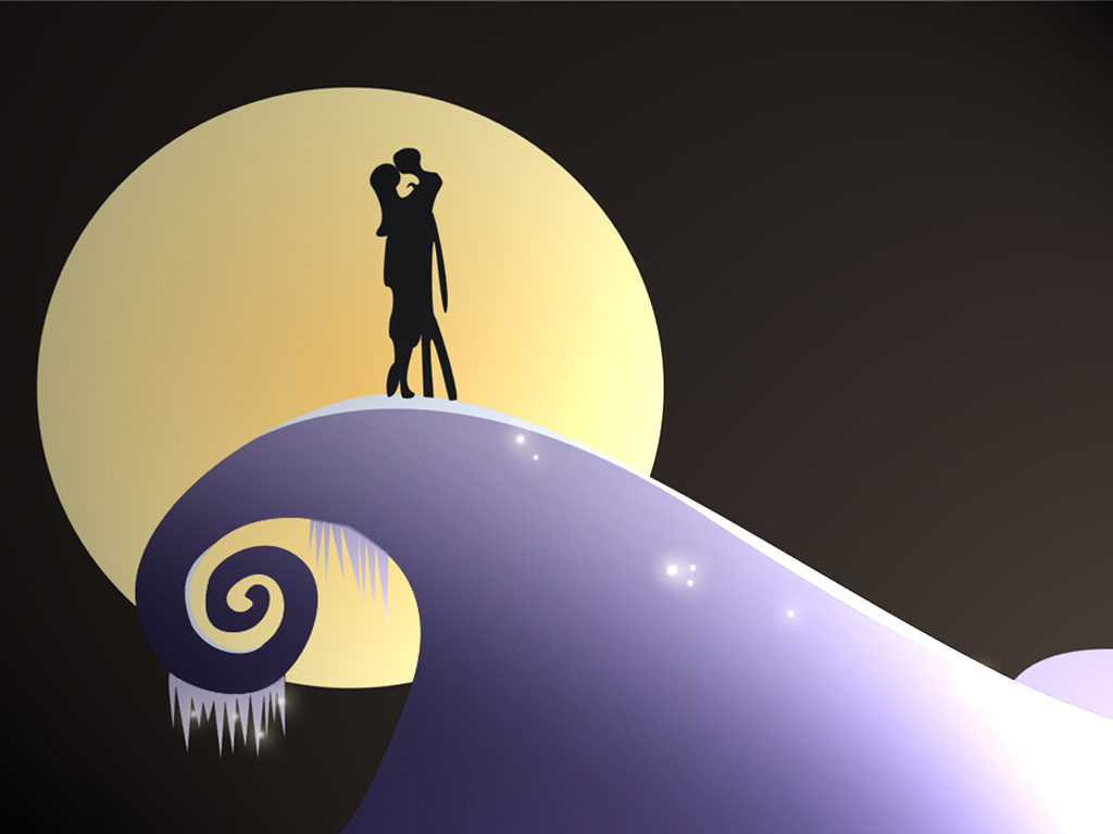 Nightmare before christmas jack and sally hill