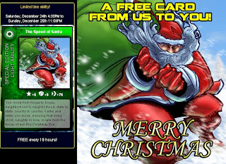 Free Speed of Santa card at Superhero City