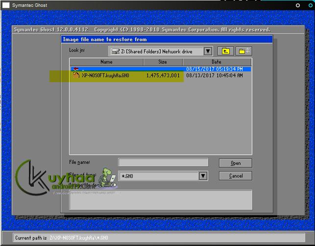 Cara melakukan Restore Sistem Operasi dari file GHO Ghost