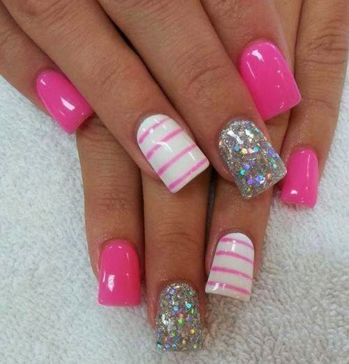 Pink nail designs are commonly used as a nail design because of the simplicity and can be used for any kind of event and occasion.
