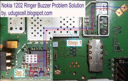 buzzer on the Nokia 1202.