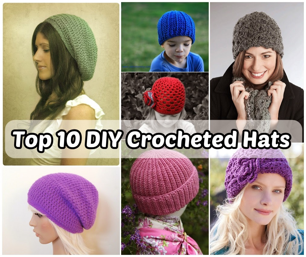 Top 10 DIY Crocheted Hats