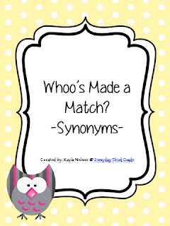 http://www.teacherspayteachers.com/Product/Synonym-Center-Owl-Themed-988734