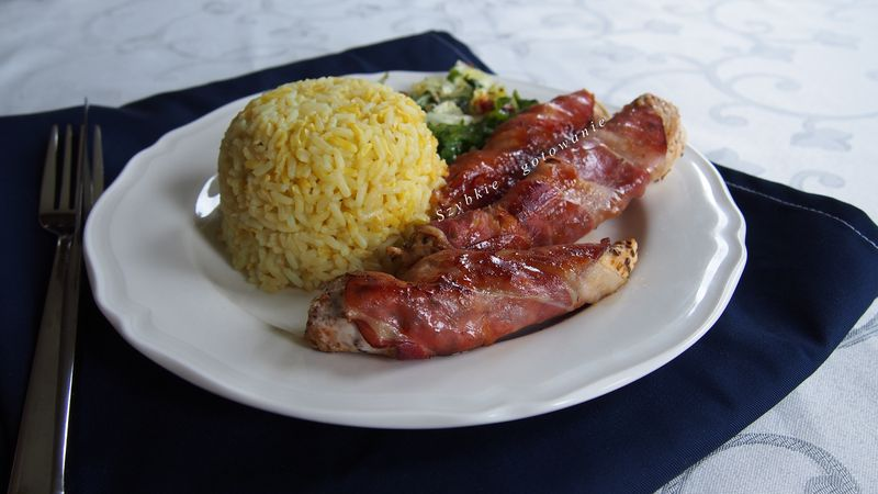 Piersi kurczaka w szynce szwarcwaldzkiej - doskonałe na obiad, imprezę czy grilla