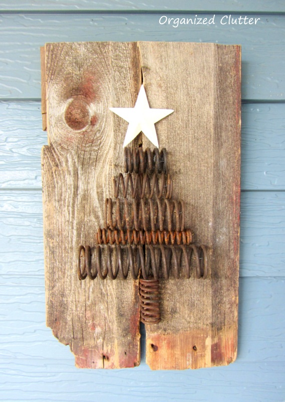 Industrial Spring Christmas Tree Tutorial www.organizedclutterqueen.blogspot.com