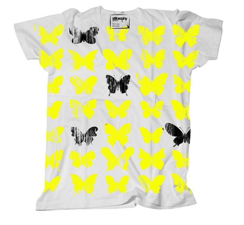 butterfly on a tee
