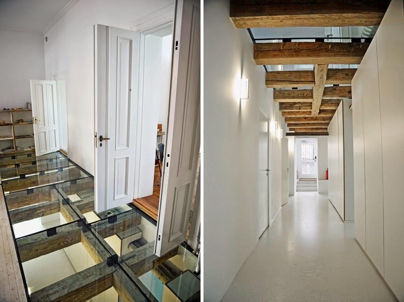 Ilia estudio interiorismo suelo de cristal en oficinas de - Suelos de vidrio ...