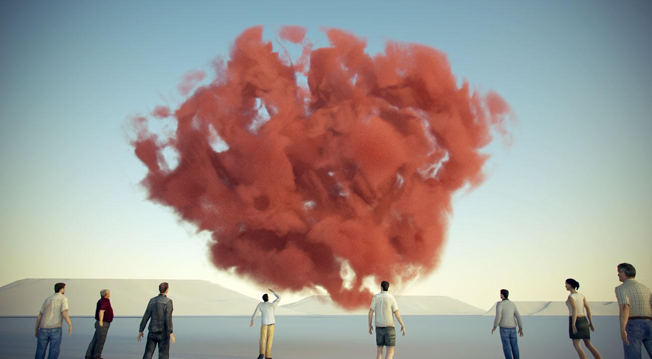 nuvole volumetriche con Cinema4D e vray