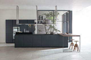diseño de cocina gris