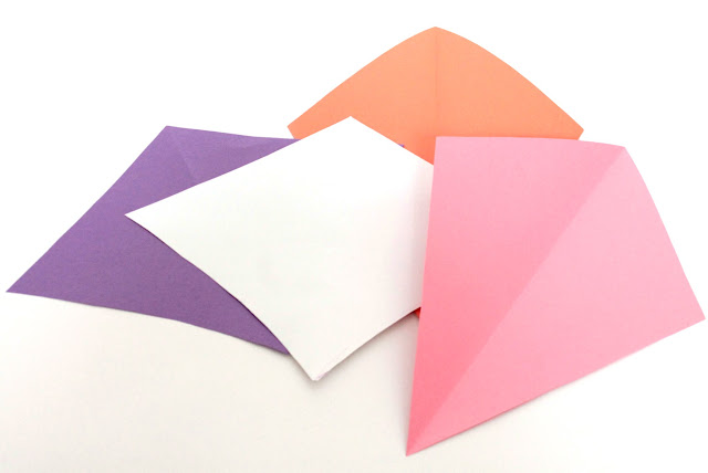Construction Paper Kites for Uttarayan. Tutorial by Make It Handmade