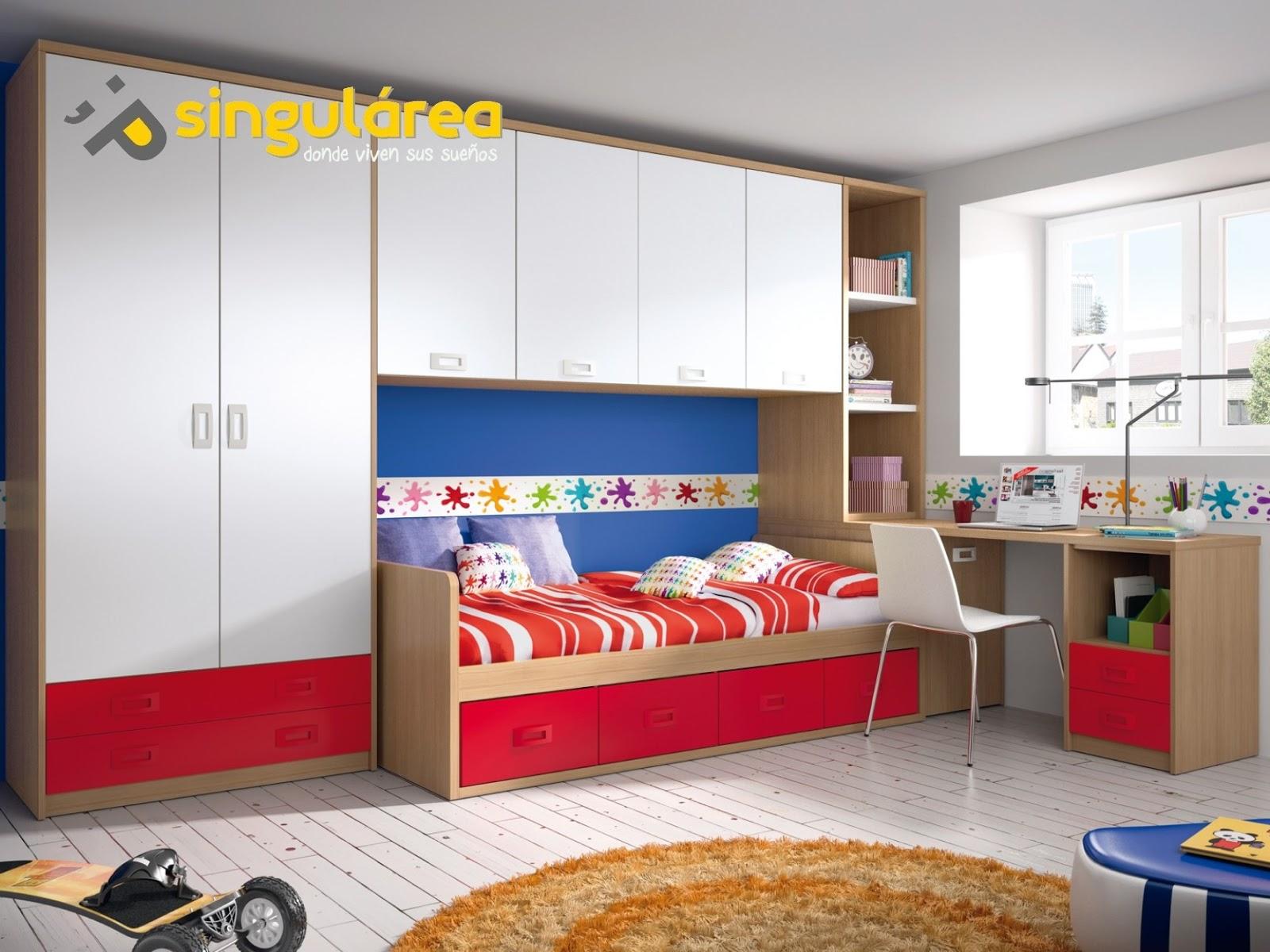 Cuarto juvenil cama nido 1556 - Habitaciones juveniles en valencia ...