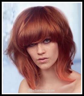 Color de cabello cobrizo