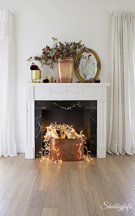 How To Create A Faux Fireplace When You Have No Real One Shabbyfufu