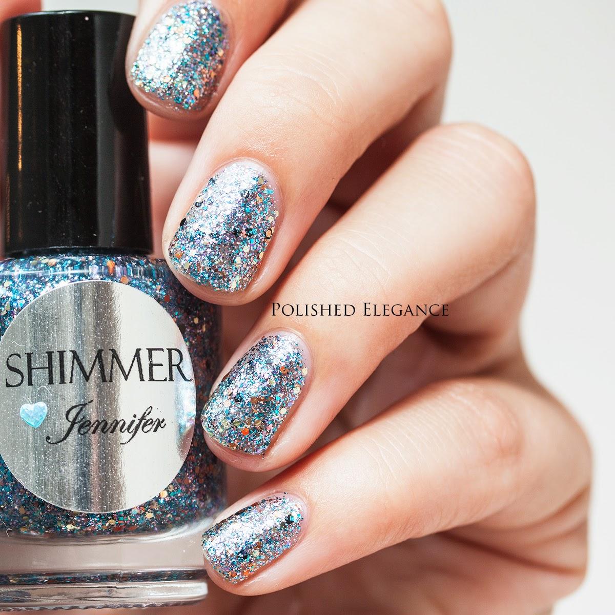 Shimmer Polish - Jennifer swatch review nail polish glitter nail polish