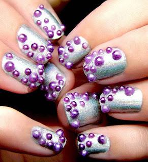 Shellac nails art desing
