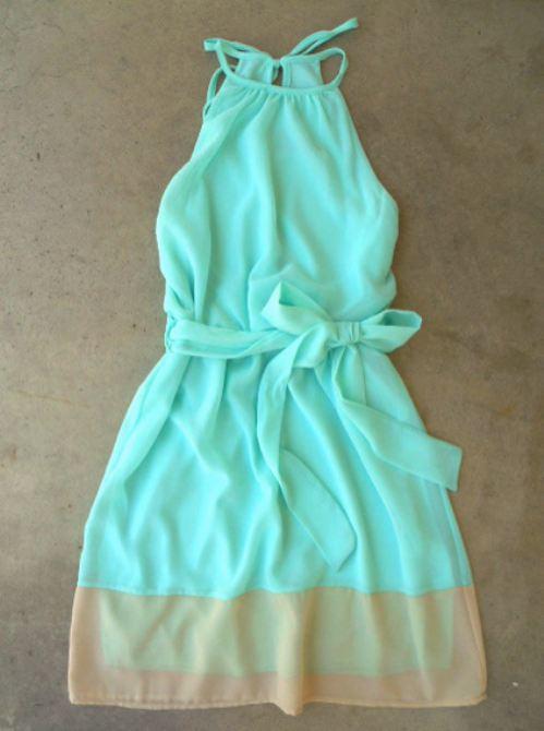 Gorgeous mint breezy shoreline dress fashion