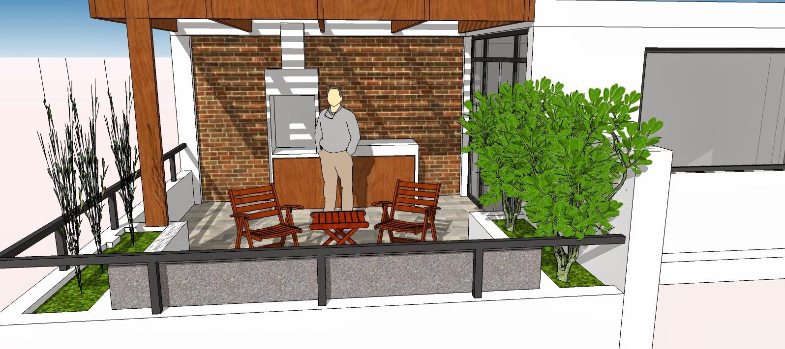 Oniria dise o previo terraza en departamento en tercer piso - Diseno de terraza ...