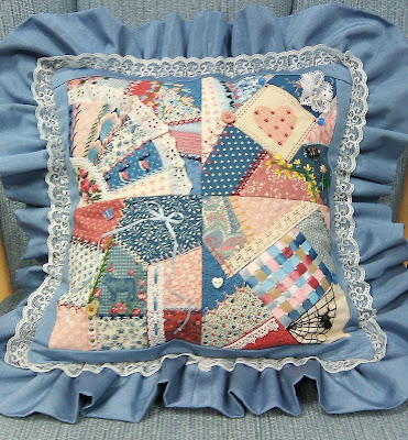 My finished crazy quilt pillow