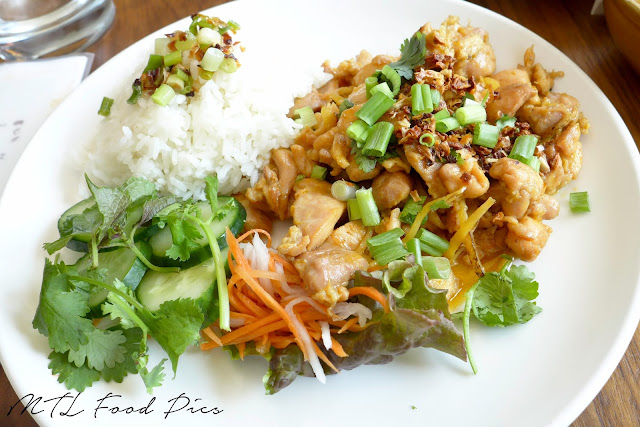 Ginger Onion chicken with Rice - Vietnamese Street Food