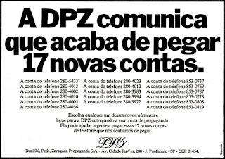 DPZ; Duailib, Petit e Zaragoza; os anos 70; propaganda na década de 70; Brazil in the 70s, história anos 70; Oswaldo Hernandez;
