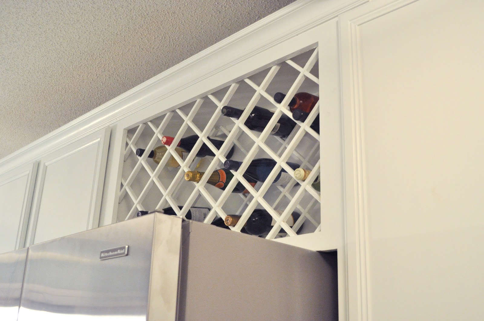Lattice Wine Rack Cabinet