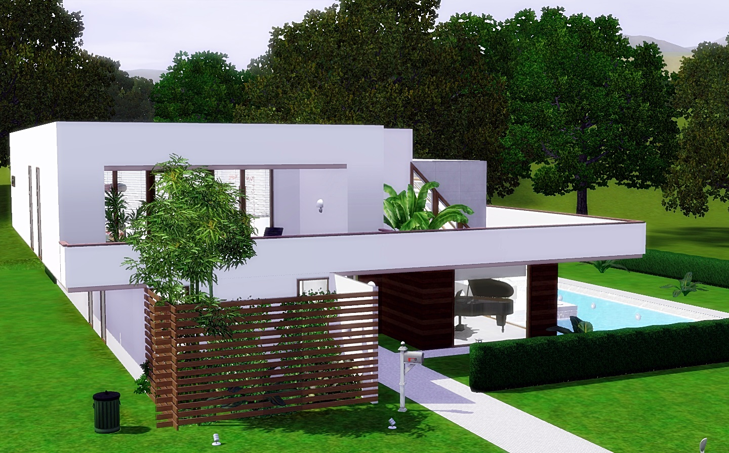 For my sims modern cozy house from via sims for Minimalist house the sims 3