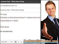 Mengirim CV via Email