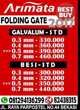 Daftar harga folding gate
