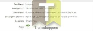Polo Ralph Lauren Bargain Corner 2013