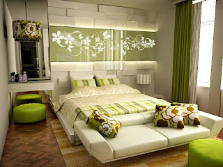 Natural Impression at Green Bedroom Design