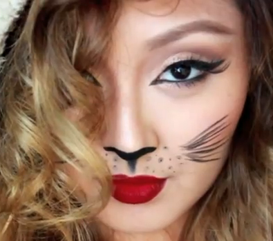 easy cat halloween makeup tutorial