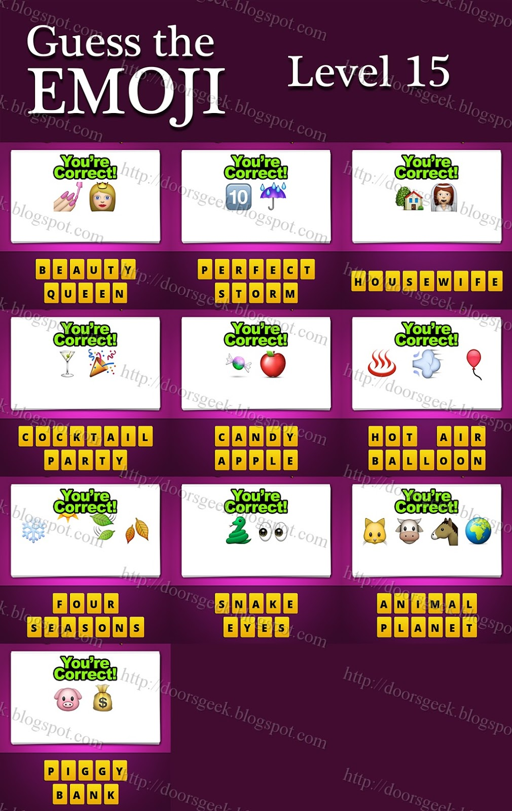 Guess the emoji is a simple game where you will see some emojis and