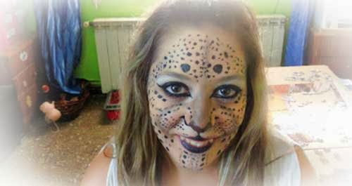 maquillaje de leopardo por marta rodriguez