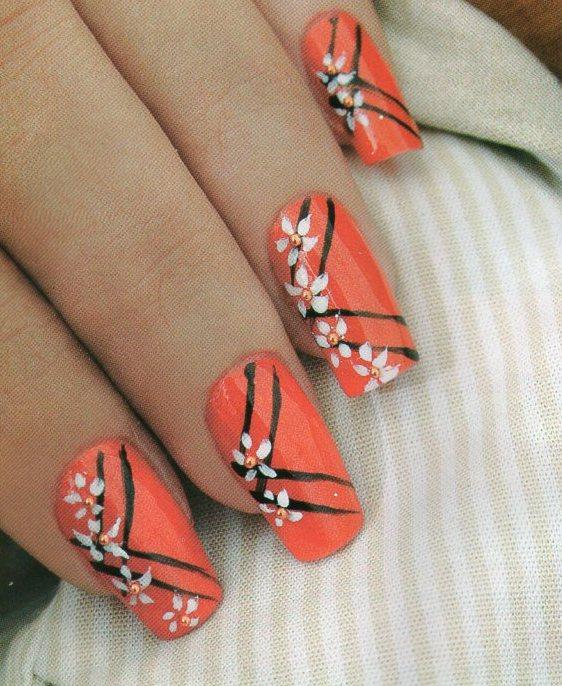Como hacer manicure margaritas belleza y peinados - Como hacer color naranja ...