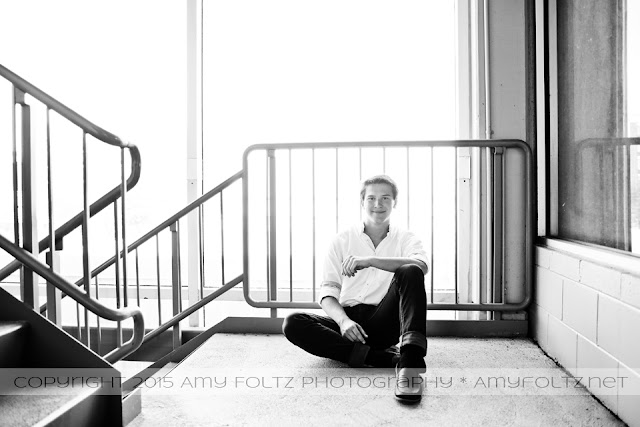 senior session in a parking garage