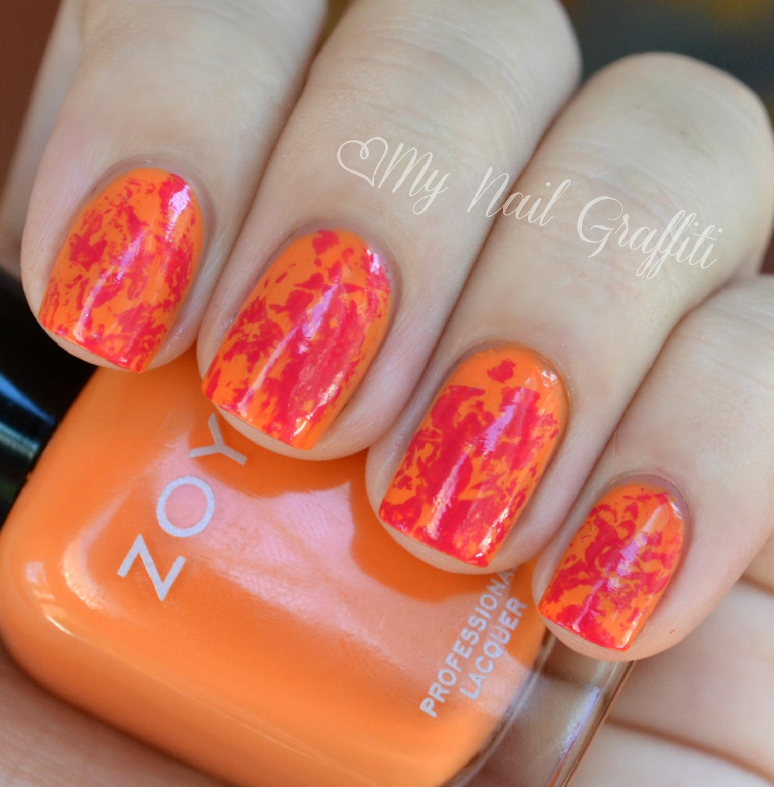 nails views: Saran Wrap Nail Art + Baby Nails!