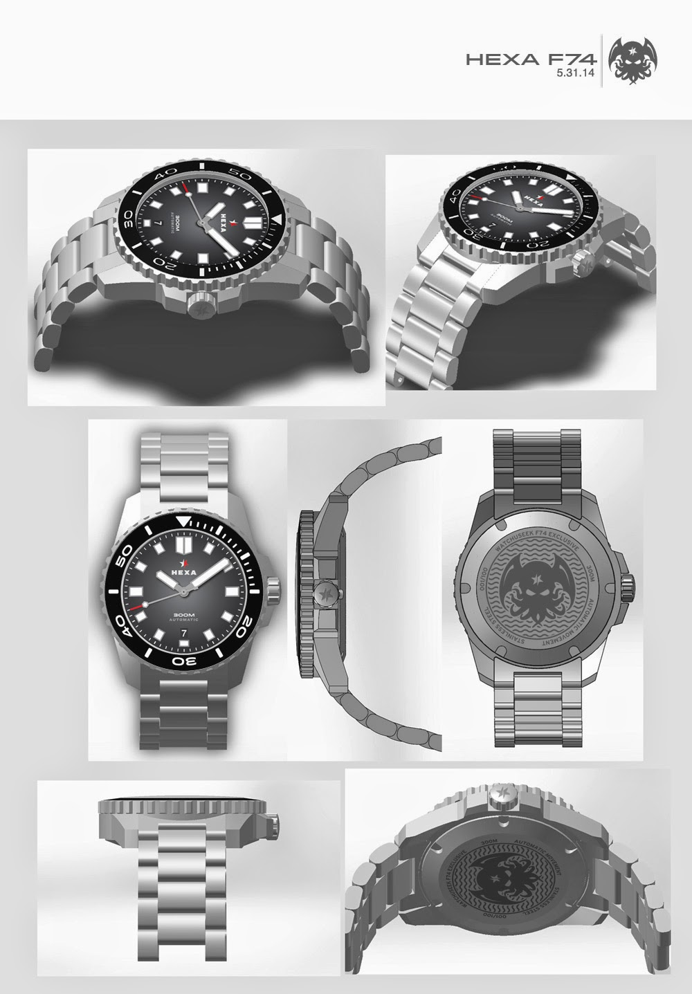 hexa watches f74 diver