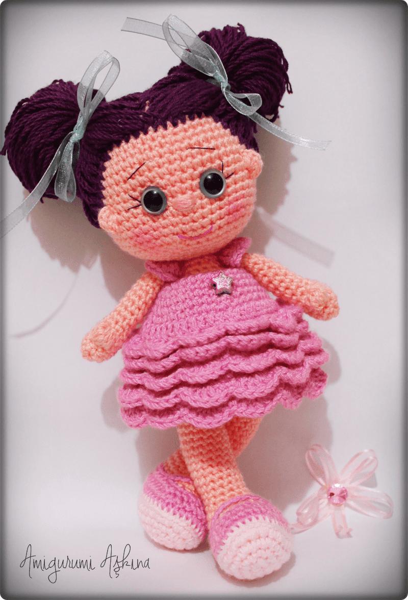 Amigurumi Bebek Sac Yapimi : Amigurumi Yildiz Bebek- Amigurumi Star Doll - Tiny Mini Design