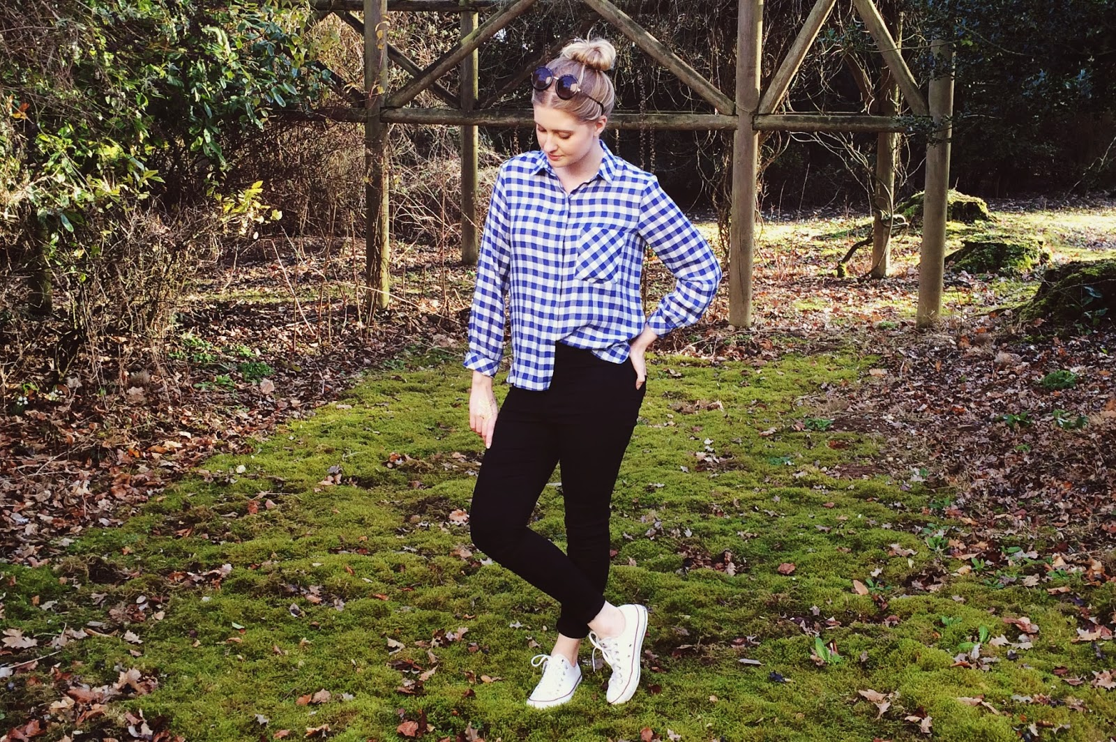 FashionFake, a UK fashion and lifestyle blog. Celebrate Casual Fridays in style with this seasons hit gingham trend! Gingham silk mix shirt from Zara.