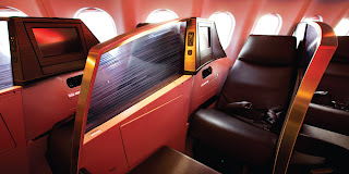 Virgin Atlantic Business Class Cabin