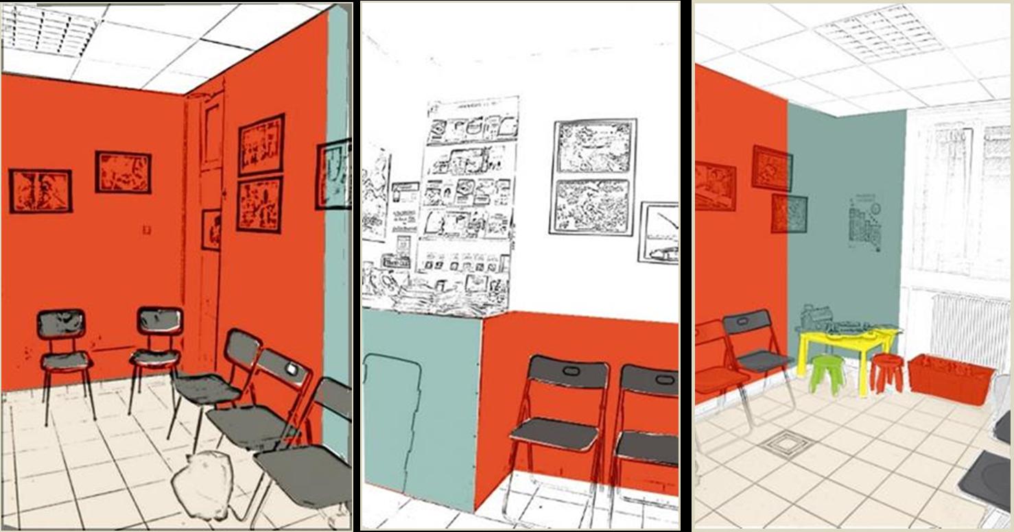 relooking d 39 une salle d 39 attente mccb. Black Bedroom Furniture Sets. Home Design Ideas