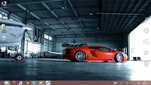 Lamborghini Aventador Lp700-4 Orange Theme For Windows 7 And 8