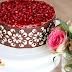 Шоколадное оформление боков торта